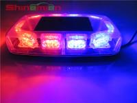 Strobe Emergency Warning Car Roof Top Light 30LED Red Blue with Magnetic Base