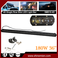 Slim Single Row 4D CREE LED Light Bar 36 Inch 180W Combo Spot Flood Beam Work Offroad 4WD